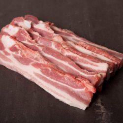 Hjemmerøget bacon i skiver