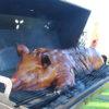 helstegt pattegris på grill