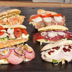udvalg af sandwich